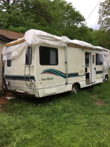 Passenger side of 1995 Four Winds RV