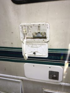 Exterior shower on 1995 Four Winds RV